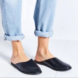 Urban Outfitters cooperative leather mules flat